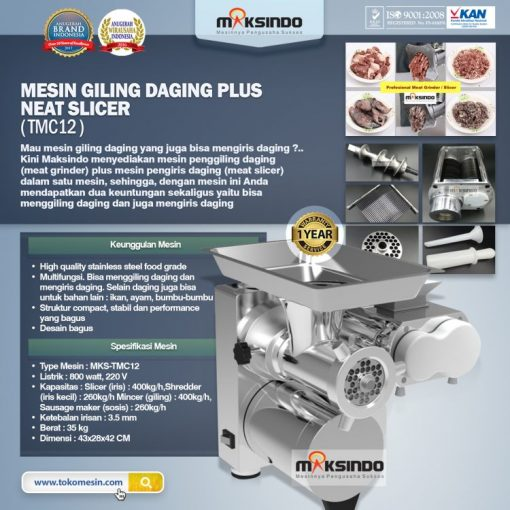 Mesin Giling Daging Plus Meat Slicer (TMC12)