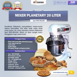 Mesin Mixer Planetary 20 Liter (MKS-BK20M)