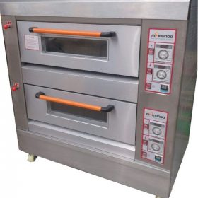 Mesin Oven Roti Gas 2 Rak 4 Loyang (GO24) 1 maksindo
