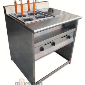 Gas Pasta Cooker With Bain Marie (4 Baskets) MKS-PCBM4 2