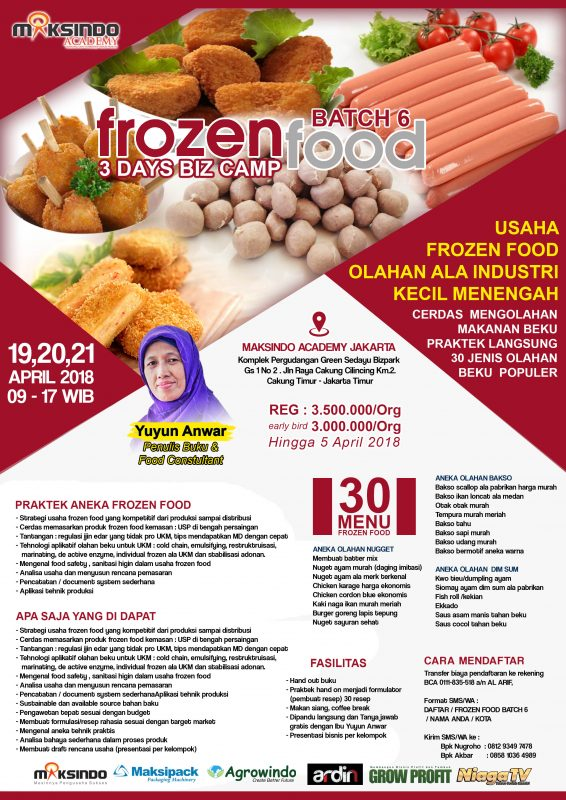 Training Usaha Frozen Food 19 21 April 2018 Toko Mesin Maksindo