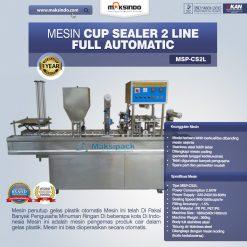 mesin cup sealer otomatis 2 line