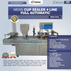 mesin cup sealer 4 line amdk